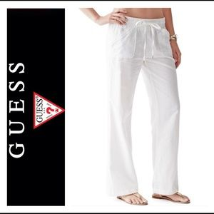 🌷New Guess Linen Loose White Pants 🌷